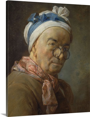 Self Portrait with Spectacles, 1771, By Jean Baptiste Simeon Chardin, Louvre Museum