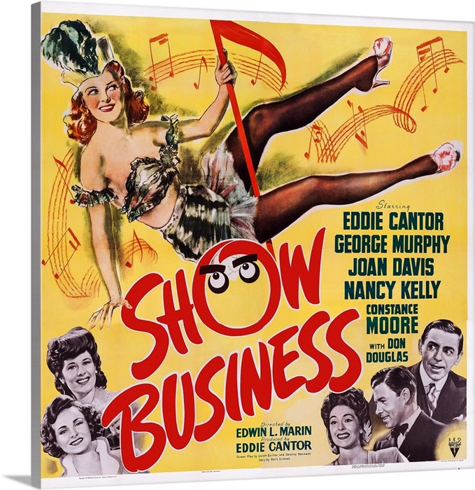 Show Business, Joan Davis, Constance Moore, Nancy Kelly, George Murphy, 1944  Wall Art, Canvas Prints, Framed Prints, Wall Peels | Great Big Canvas