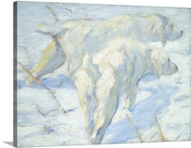 Siberian Dogs in the Snow, by Franz Marc, 1909-10, German painting