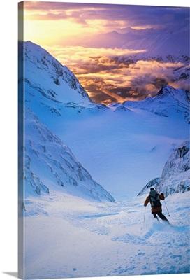Skier On Mountain Slope