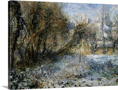 Snowy Landscape. Ca. 1875. By Pierre-Auguste Renoir. Orangerie Museum