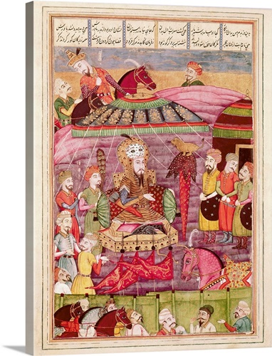 Sohrab Facing the Tent of the Persian Army Leaders. Shahnameh. The ...