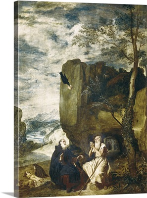 St. Anthony the Abbot and St. Paul the Hermit. 1634
