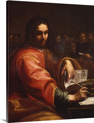 St. Augustine Writes In Room With His Students, By Giuseppe Vermiglio, 17th C.