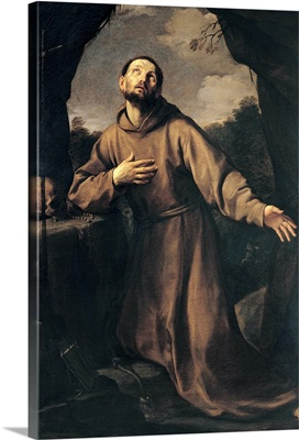St. Francis in Ecstasy, by Guido Reni, 1621, 17th c. Naples, Italy