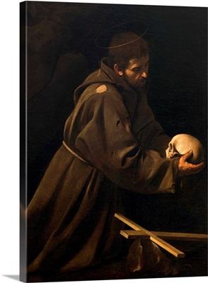 St. Francis in Meditation, by Caravaggio, 1606-1614. Santa Maria della Concezione Church
