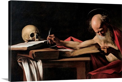 St. Jerome, by Caravaggio, 1605. Borghese Gallery, Rome, Italy