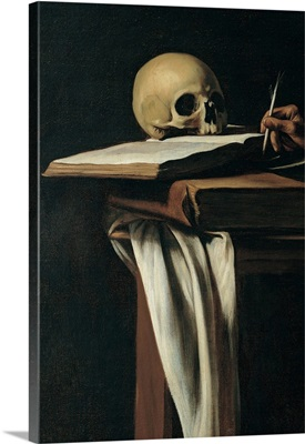 St. Jerome (Detail of skull), by Caravaggio, 1605. Borghese Gallery, Rome, Italy