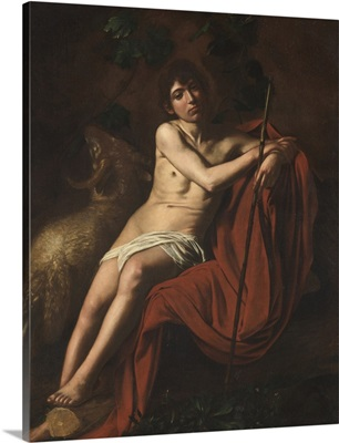 St. John the Baptist, by Caravaggio, 1609-1610. Borghese Gallery, Rome, Italy