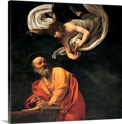St. Matthew and the Angel, by Caravaggio, 1602. San Luigi dei Francesi Church, Rome
