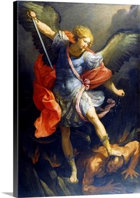 St. Michael the Archangel, 1635. St Michael stepping on Devil's head