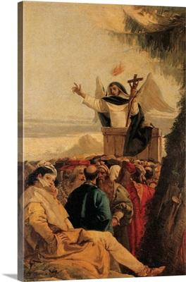 St. Vincent Ferreri preaching to the multitude, by Giandomenico Tiepolo, 18th c. Venice