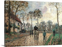 Stagecoach at Louveciennes, by Camille Pissarro, 1870. Musee d'Orsay