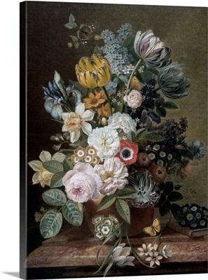 Still Life with Flowers, by Eelke Jelles Eelkema, c. 1815-39
