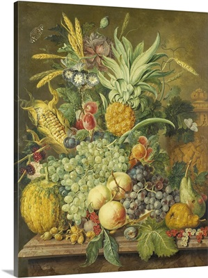 Still Life with Fruit, by Jacobus Linthorst, 1808