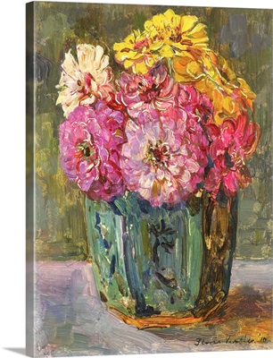 Still Life with Zinnias in a Ginger Pot, by Floris Verster, 1910