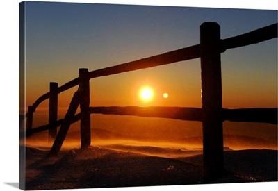 Sunrise On Highest Harz Mountain, Brocken, Germany