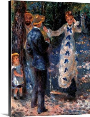 Swing, By Pierre-Auguste Renoir, 1876. Musee D'Orsay, Paris, France. Detail