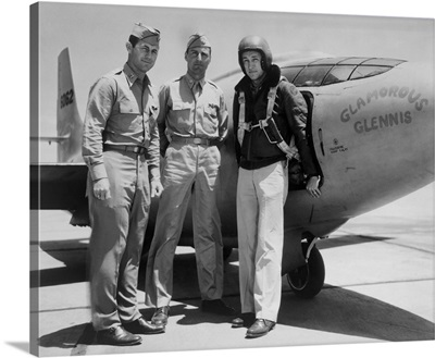 Test Pilots Capt, Charles E, Yeager, Major Gus Lundquist, and Capt, James Fitzgerald