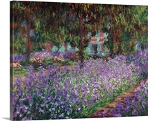 The Artist's Garden at Giverny, 1900, By French impressionist Claude Monet