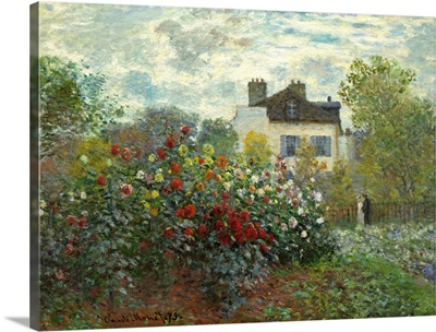 The Artist's Garden in Argenteuil, by Claude Monet, 1873