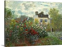 The Artist's Garden in Argenteuil, by Claude Monet, 1873