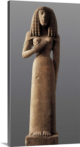 the auxerre goddess archaic greek art wall art canvas prints