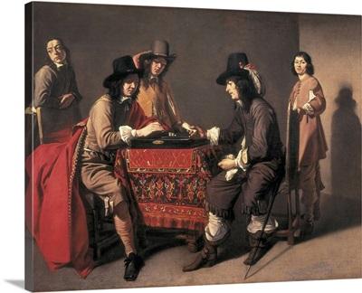 The Backgammon Players by Mathieu le Nain