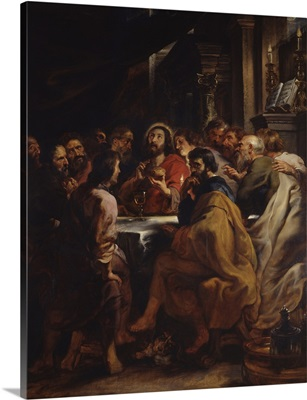 The Cenacle. Jesus And Apostles At The Table Of The Last Supper, By Peter Paul Rubens