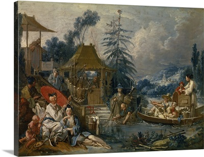The Chinese Fishermen, Circa 1742, By Francois Boucher, French, oil on canvas