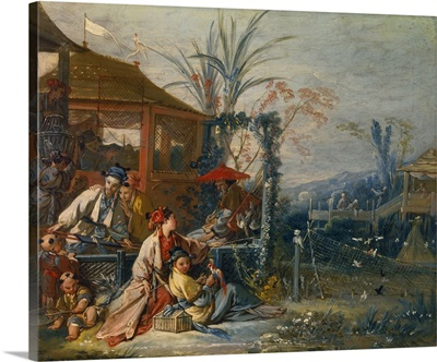 The Chinese Hunt, Circa 1742, By Francois Boucher, French, oil on canvas