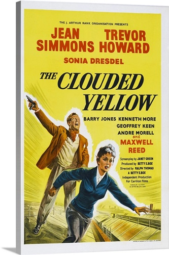 The Clouded Yellow, British Poster, Trevor Howard, Jean Simmons, 1950