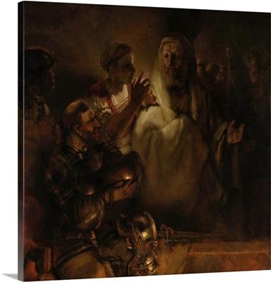 The Denial of St. Peter, by Rembrandt van Rijn, 1660