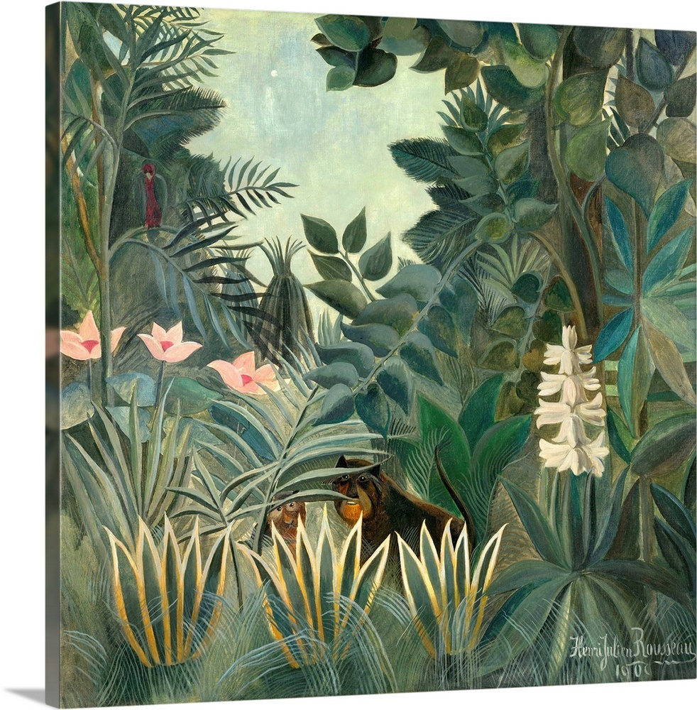 The Equatorial Jungle By Henri Rousseau 1909 French Painting