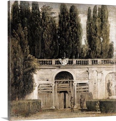 The Gardens of the Villa Medici in Rome. 1650