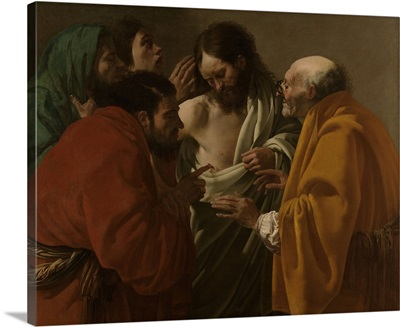 The Incredulity of Thomas, by Hendrick ter Brugghen, 1522, Dutch painting