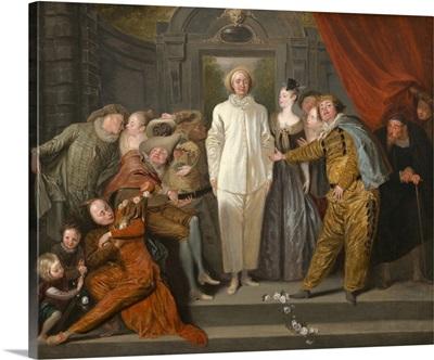 The Italian Comedians, by Antoine Watteau, 1720