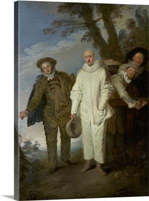 The Italian Comedians, by Jean-Antoine Watteau, 1720
