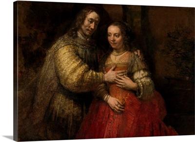 The Jewish Bride, by Rembrandt van Rijn, c. 1665-69