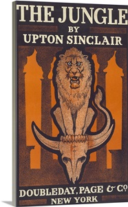 The Jungle By Upton Sinclair Vintage Poster Wall Art