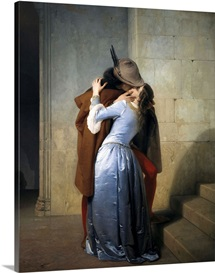The Kiss. 1859. By Francesco Hayez. Brera Gallery, Milan, Italy