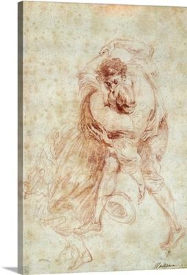 The Kiss, Drawing by Jean Antoine Watteau, c. 1700-21, Louvre Museum