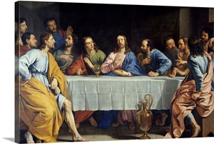 The Last Supper 1648 By Flemish Painter Philippe De