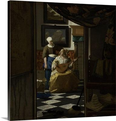 The Love Letter, Johannes Vermeer, 1669-1670