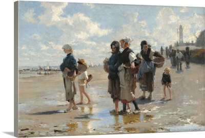 The Oyster Gatherers of Cancale, by John Singer Sargent, 1878, American painting