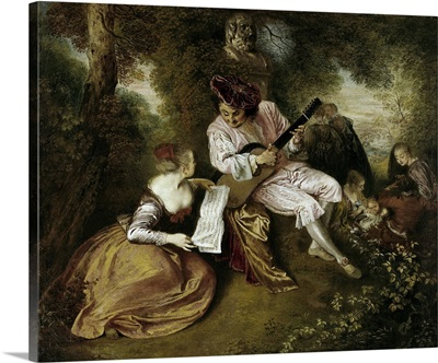 The Scale of Love, 1715-1718, By Jean Antoine Watteau, French, oil on canvas