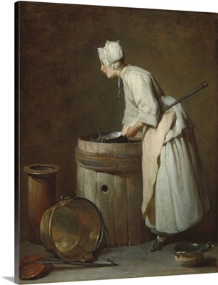 The Scullery Maid, by Jean-Simeon Chardin, 1738