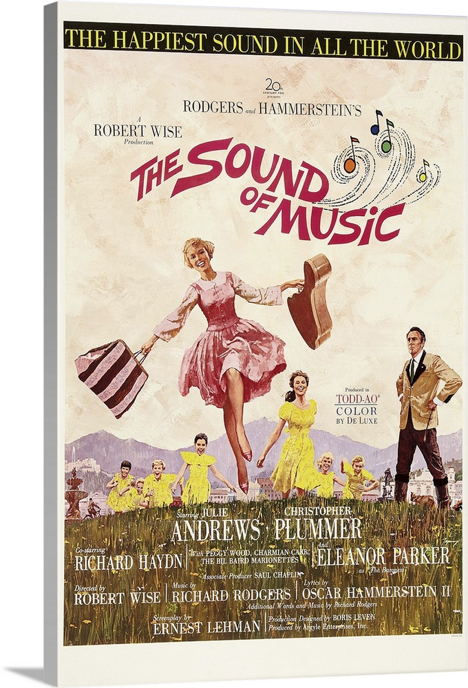 the sound of music vintage movie poster great big canvas