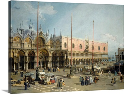 The Square of Saint Mark's, Venice, by Canaletto, 1742-44, Italian painting