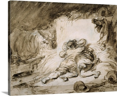 The Stable By Jean Honore Fragonard, c. 1755-90